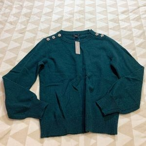 J crew crewneck sweater jeweled buttons ae990